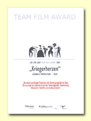 Urkunde des Team Film Awards 2005